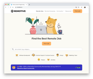 How side-project Remotive.io grew to $11,000/mo, patiently.
